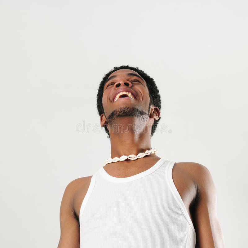 Homem africano feliz foto de stock