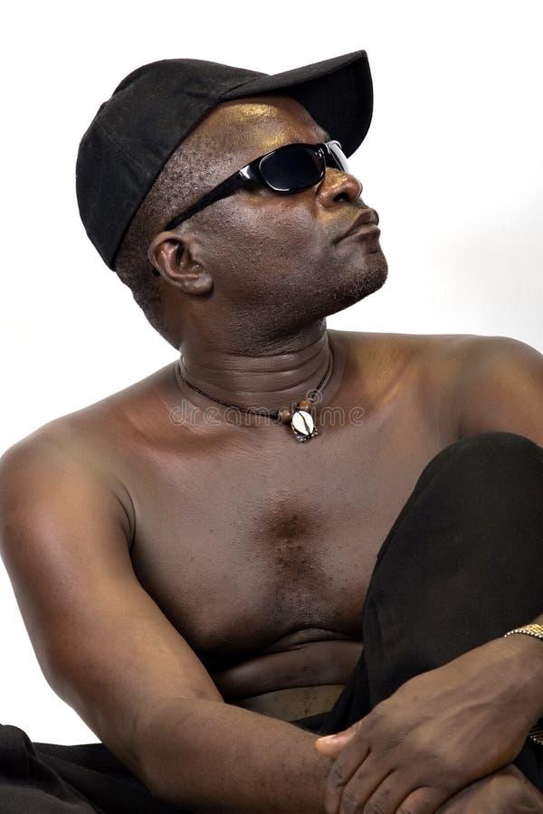 Homem africano novo fotografia de stock