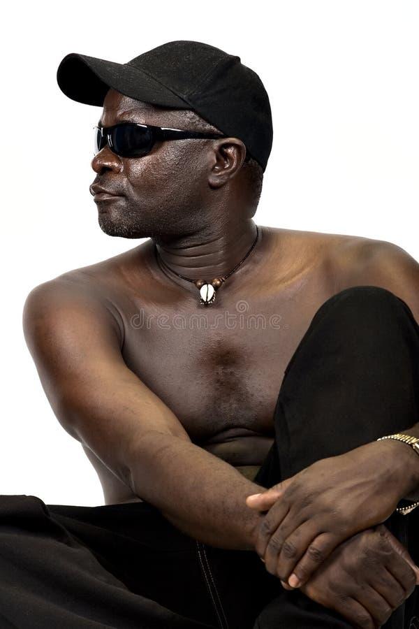 Homem africano novo foto de stock royalty free