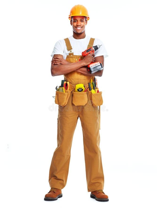 Homem afro-americano do trabalhador fotos de stock royalty free