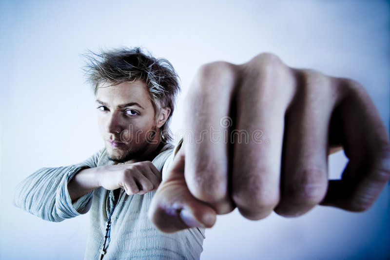 Homem agressivo fotos de stock royalty free