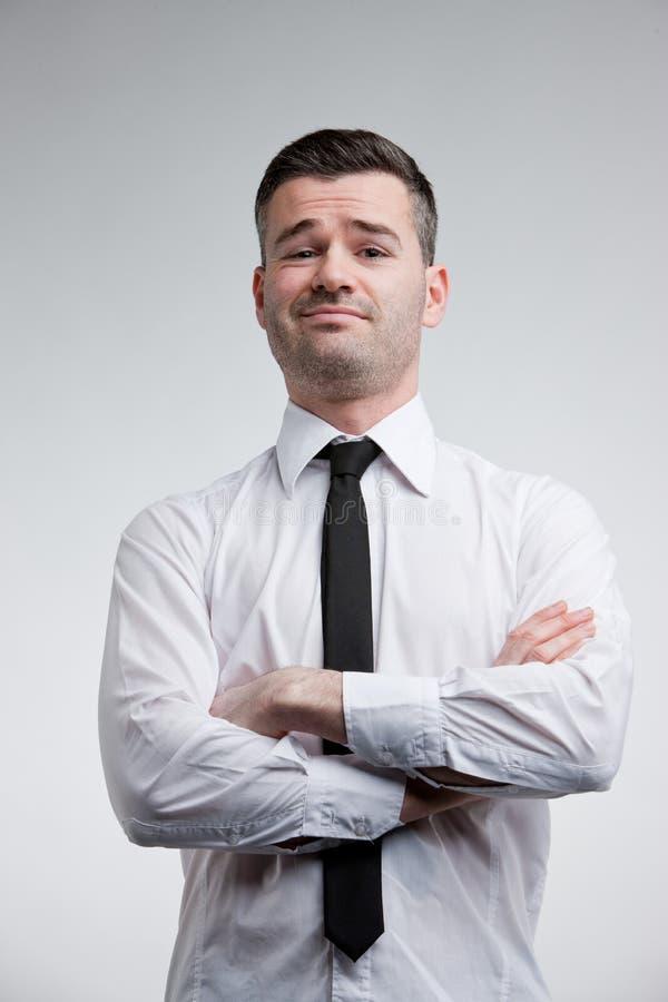 Homem altivo que mostra fora é o melhor imagens de stock royalty free