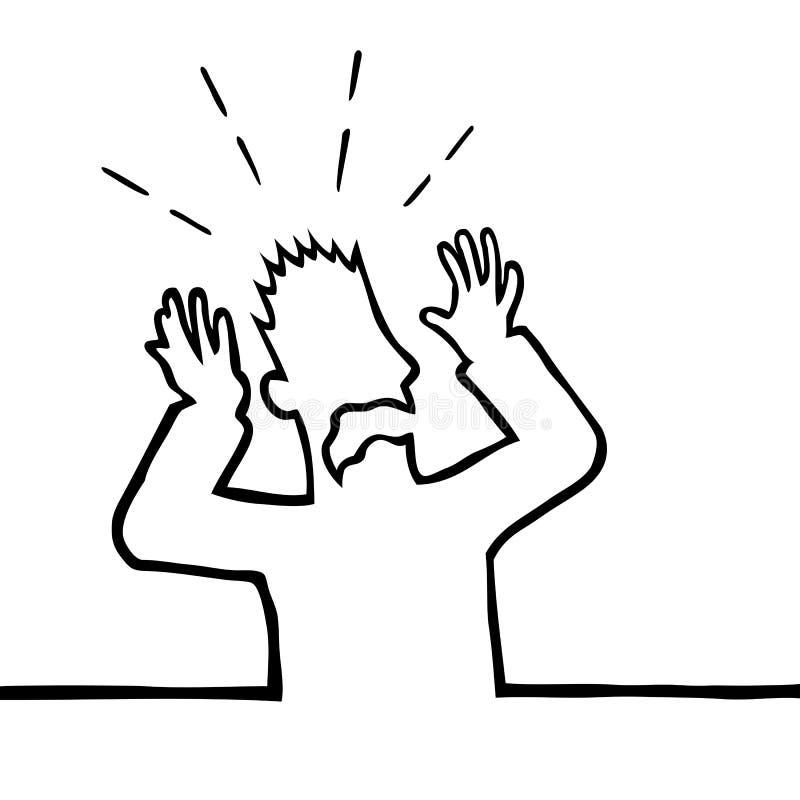 Homem amedrontado ilustração do vetor