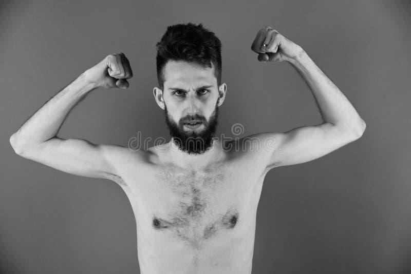 Homem anoréxico homem magro ou indivíduo farpado do moderno com anorexia fotografia de stock royalty free