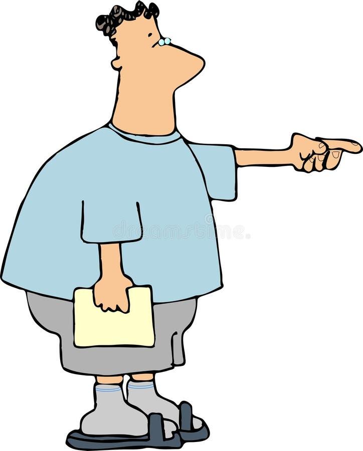 Homem apontando ilustração royalty free