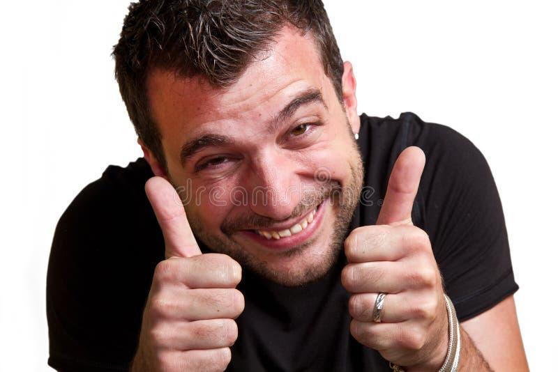 Homem aprovado foto de stock