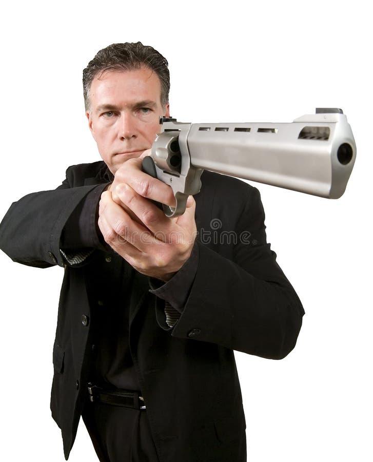 Homem armado imagem de stock