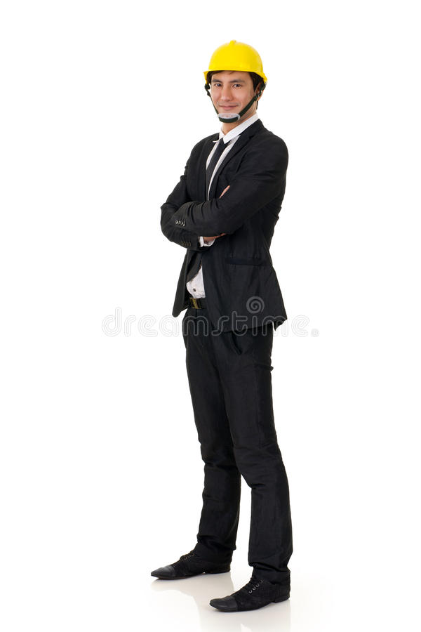 Homem asiático da construção foto de stock royalty free