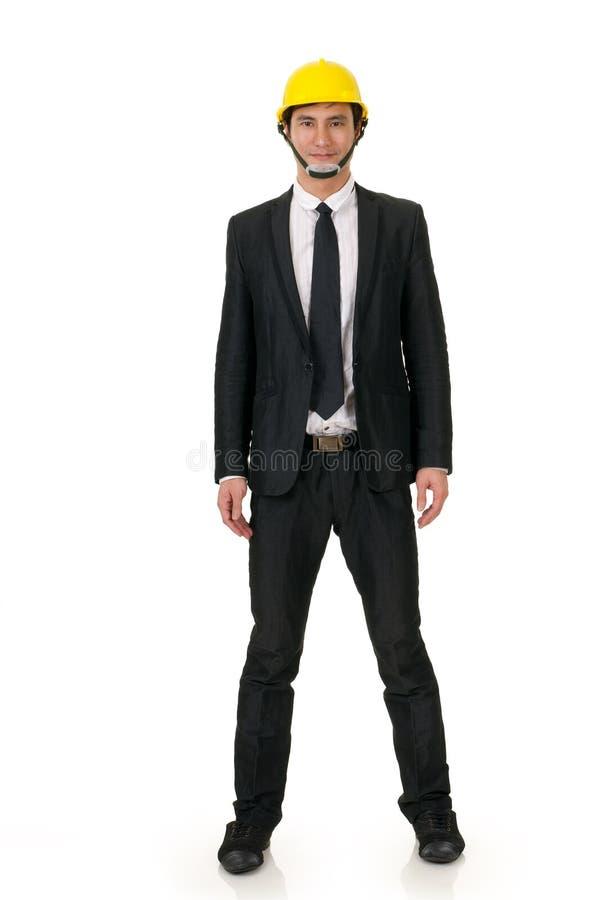 Homem asiático da construção imagem de stock royalty free