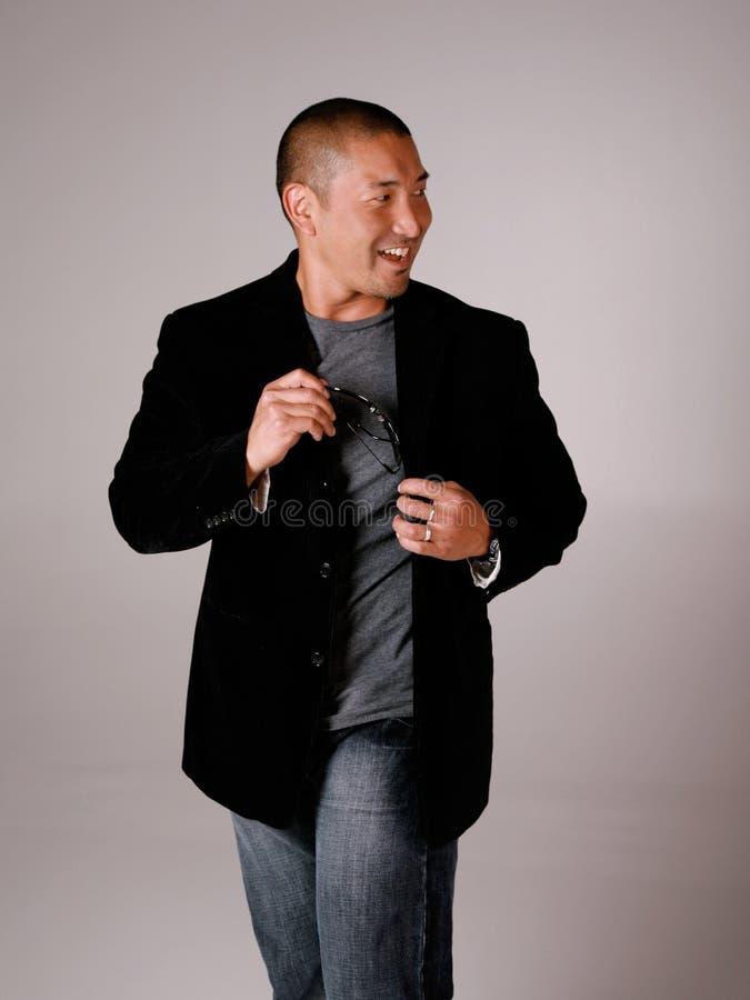 Homem asiático da forma fotografia de stock royalty free