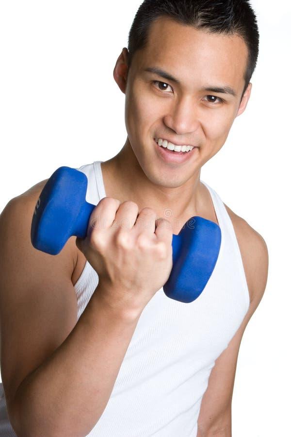 Homem asiático do exercício imagem de stock