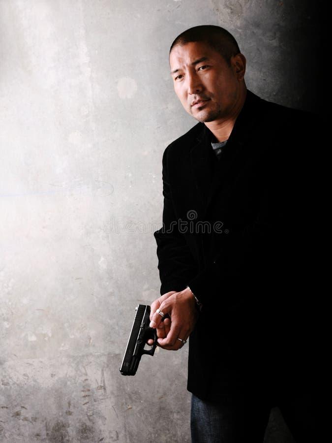 Homem asiático do gângster imagens de stock