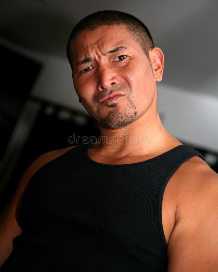 Homem asiático estranho imagens de stock royalty free