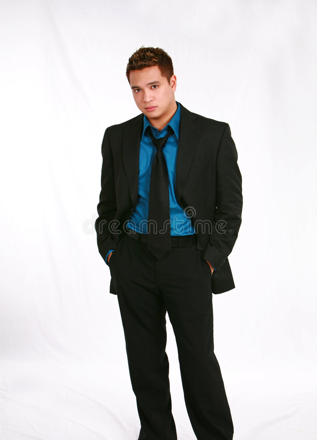 Homem asiático no terno imagem de stock
