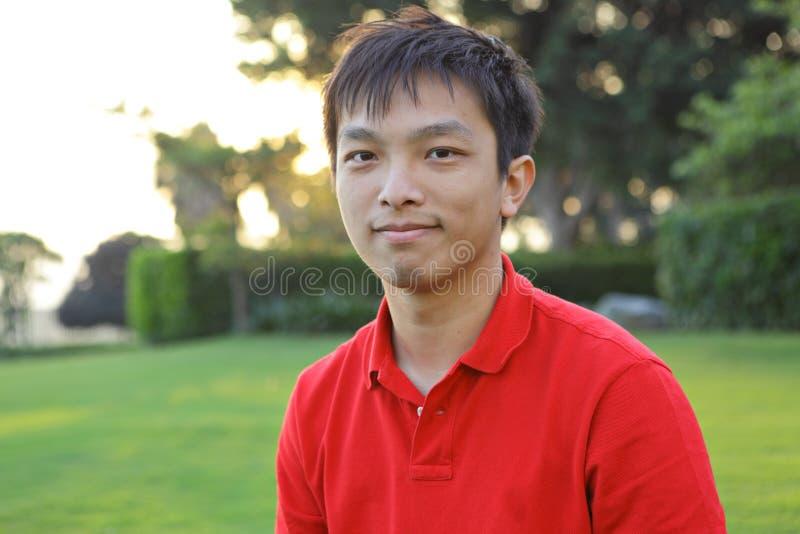 Homem asiático novo fotografia de stock