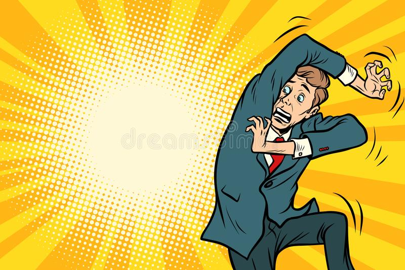 Homem assustado engraçado ilustração do vetor