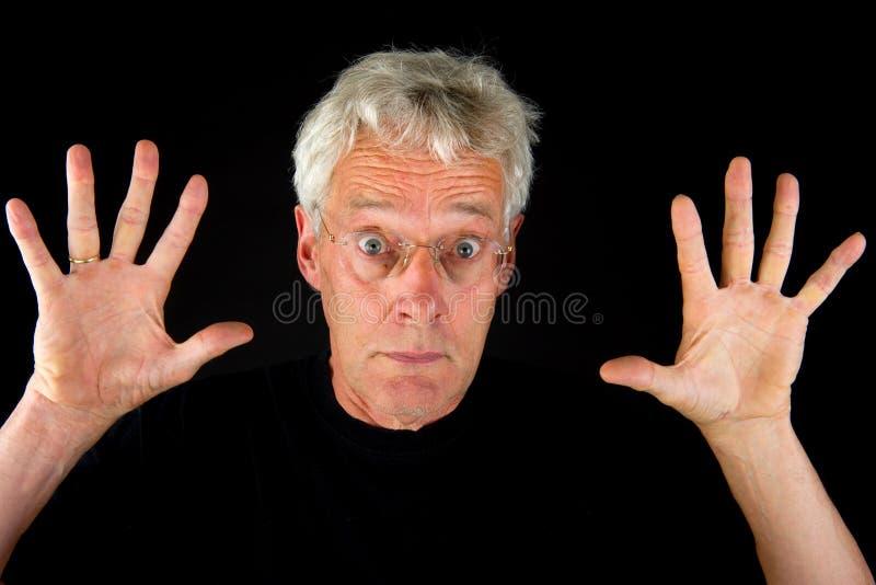 Homem assustador fotos de stock