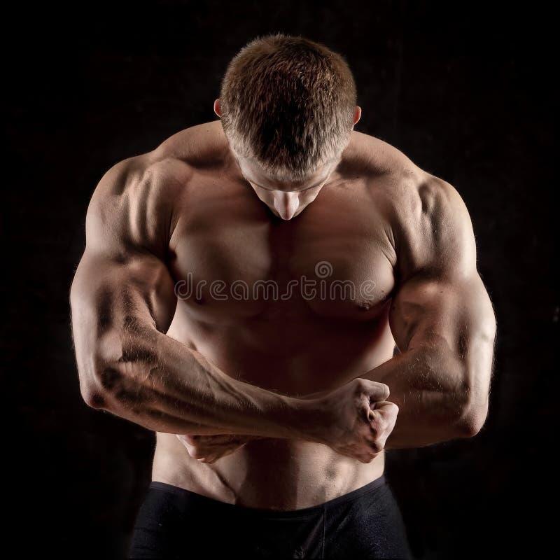 Homem atlético imagens de stock
