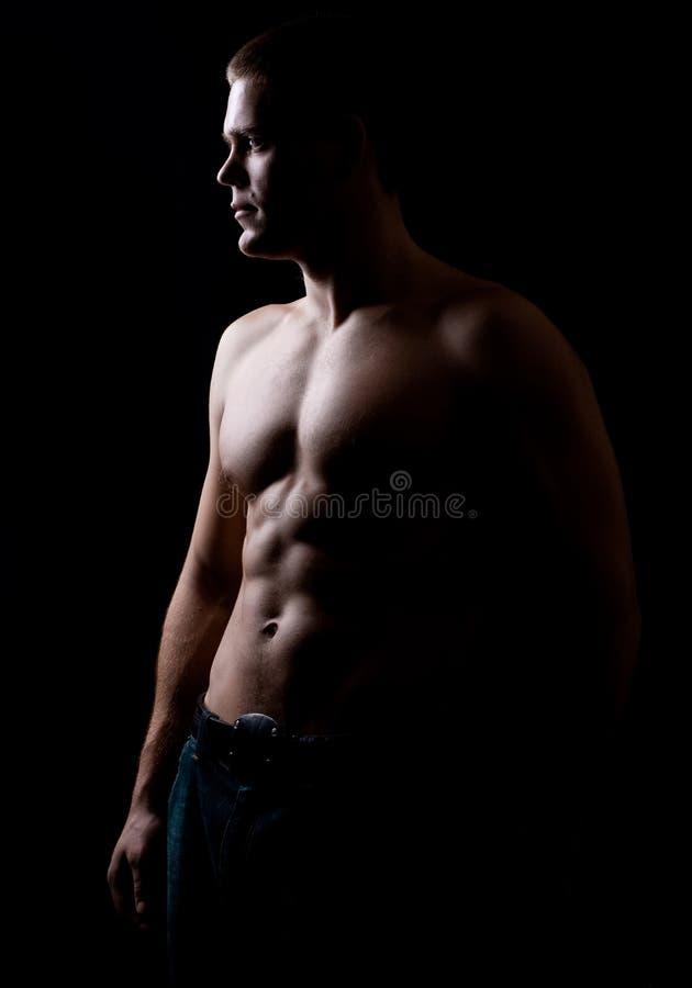 Homem atlético forte fotografia de stock