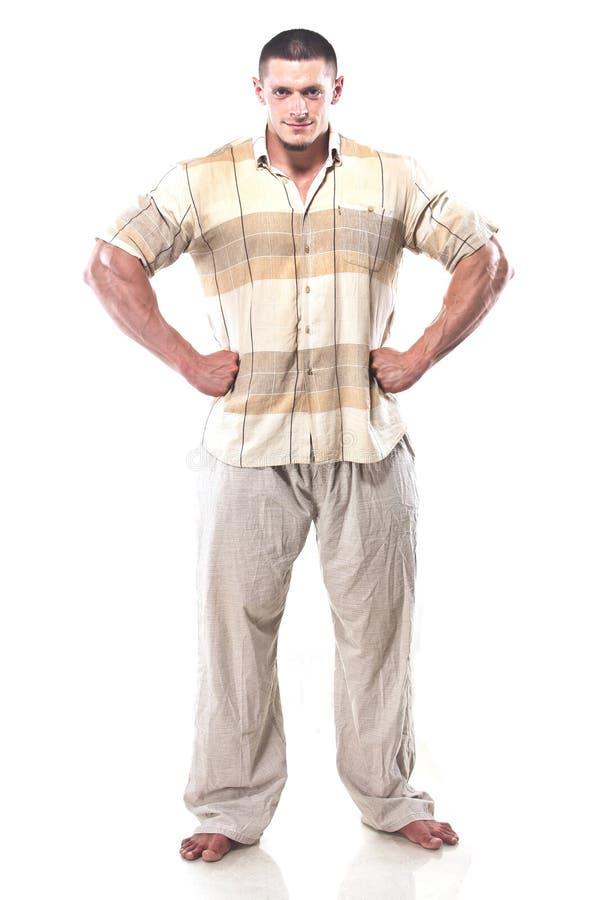 Homem atlético forte foto de stock