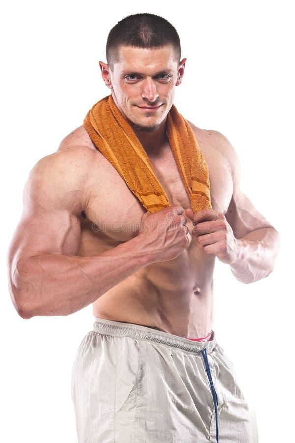 Homem atlético forte imagens de stock