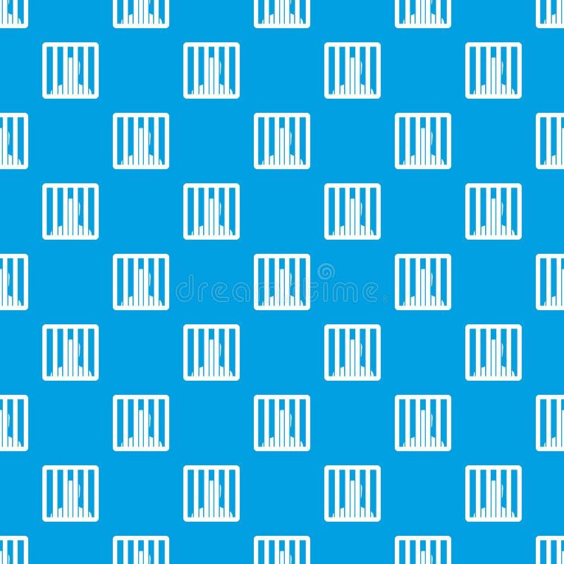 Homem atrás do azul sem emenda do teste padrão de barras da cadeia ilustração do vetor