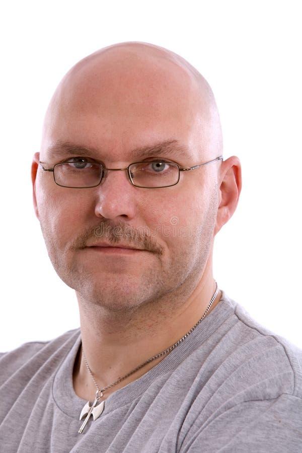 Homem balding adulto imagem de stock