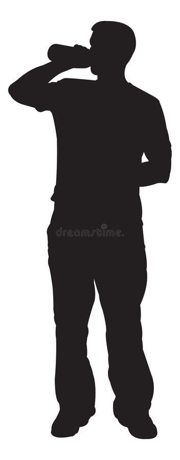 Homem bebendo ilustração royalty free