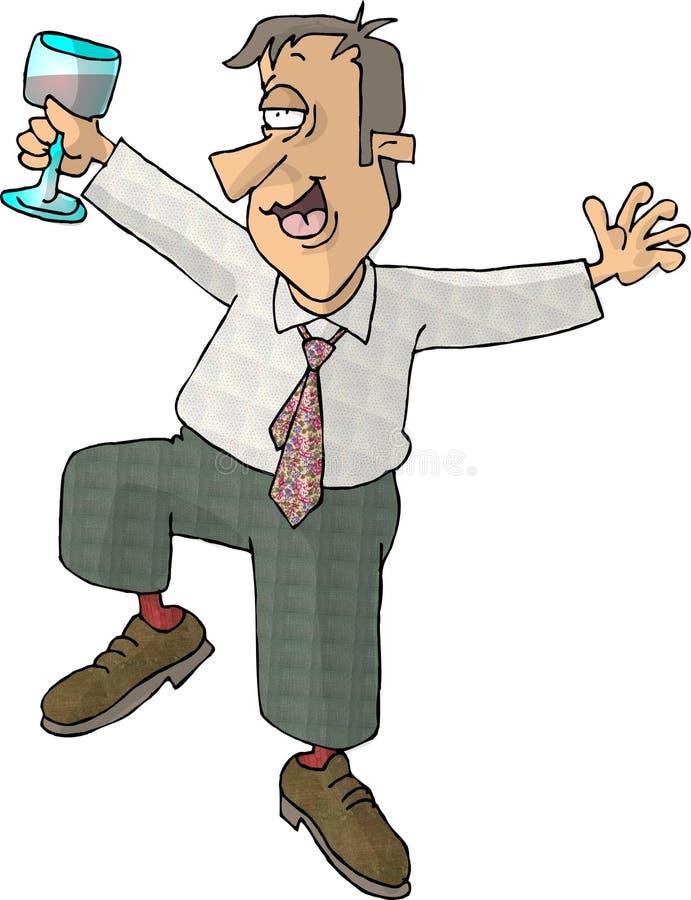 Homem bebendo ilustração do vetor