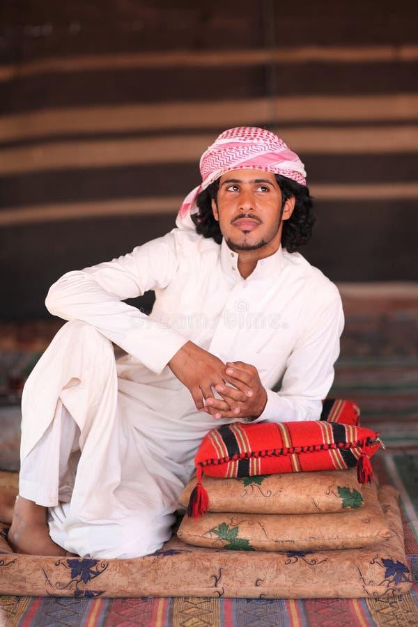 Homem beduíno imagem de stock