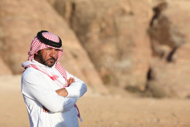Homem beduíno imagem de stock royalty free