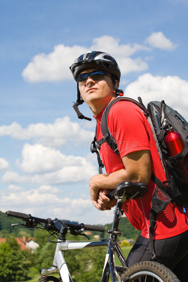 Homem Biking 2 fotos de stock