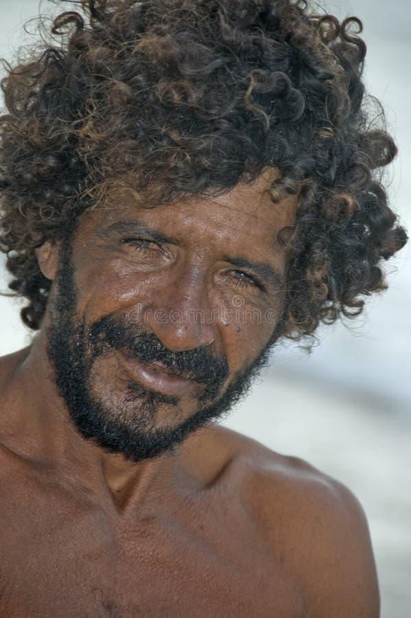 Homem brasileiro da pesca imagem de stock