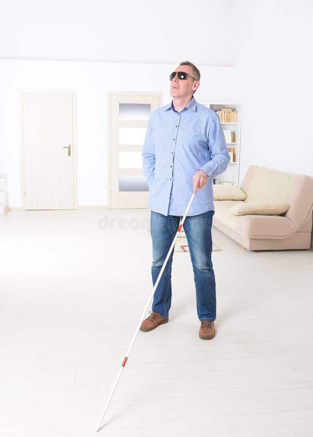 Homem cego imagem de stock
