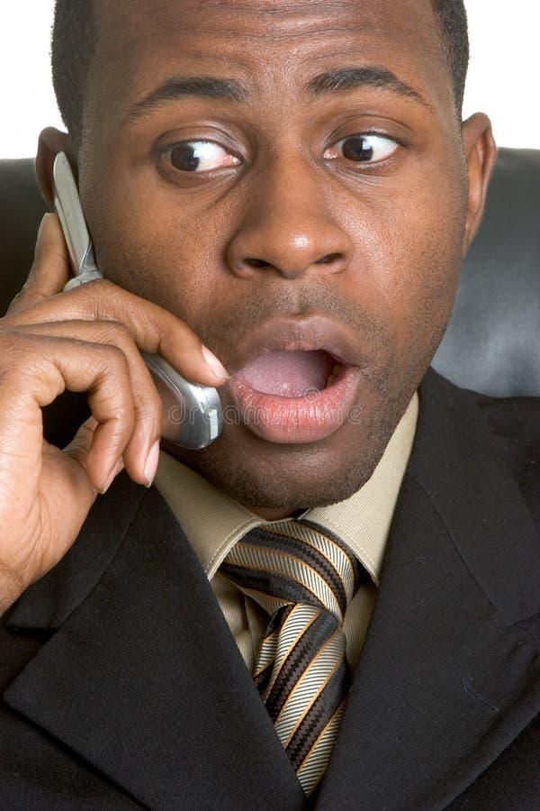 Homem choc do telefone foto de stock royalty free