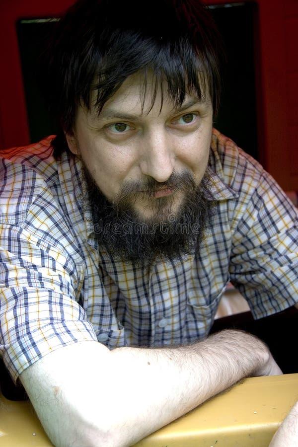 Homem com barba imagem de stock royalty free