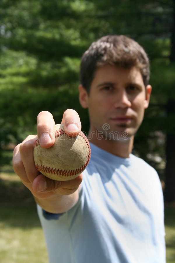 Homem com basebol imagem de stock royalty free