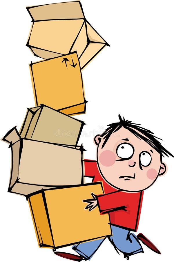 Homem com caixas