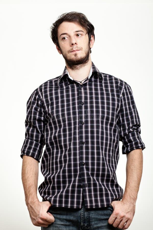 Homem Com Camisa Checkered Foto de Stock Royalty Free