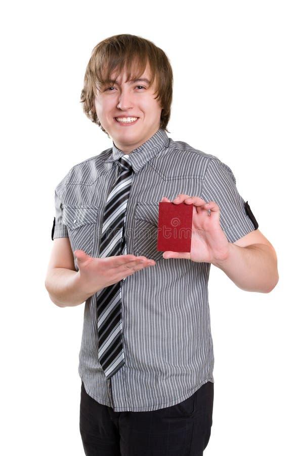Homem com cartão imagens de stock