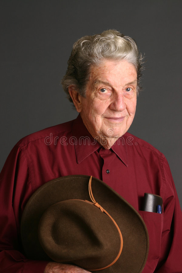 Homem com chapéu imagem de stock