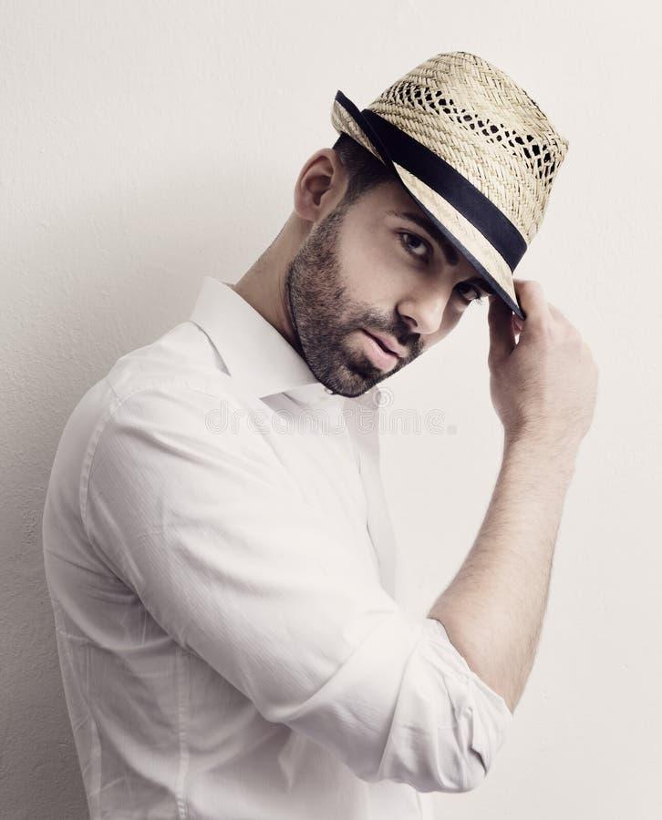 Homem com chapéu imagem de stock royalty free