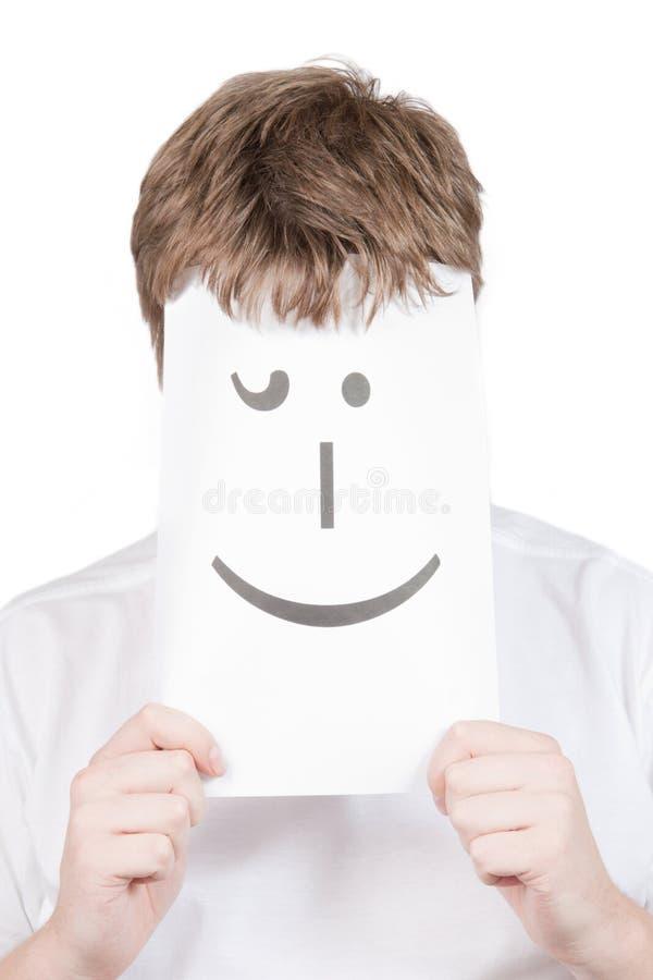 Homem com com um sorriso imagens de stock