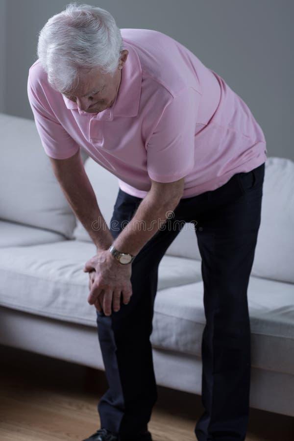 Homem com dor imagem de stock royalty free