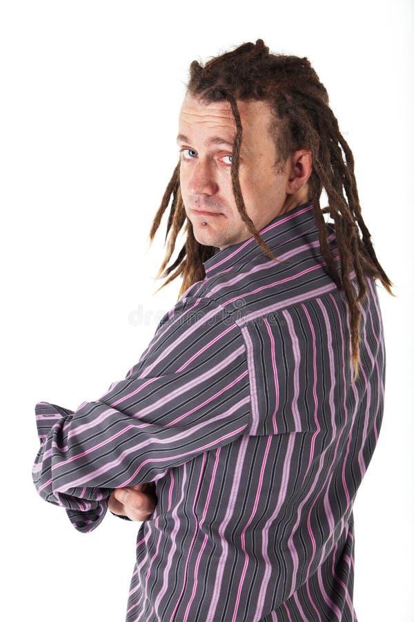 Homem com Dreadlocks foto de stock royalty free