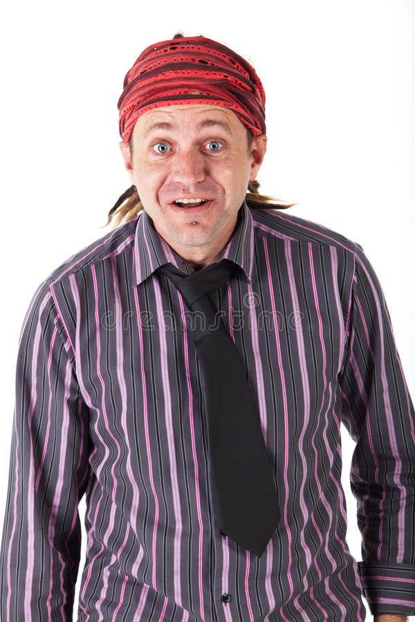 Homem com Dreadlocks foto de stock
