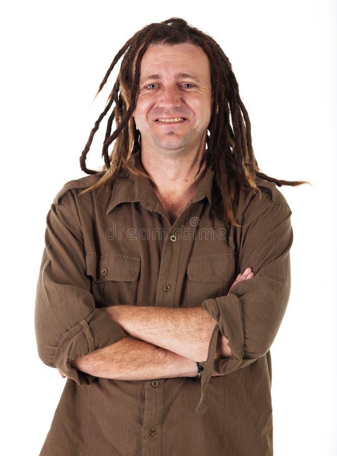 Homem com Dreadlocks fotografia de stock
