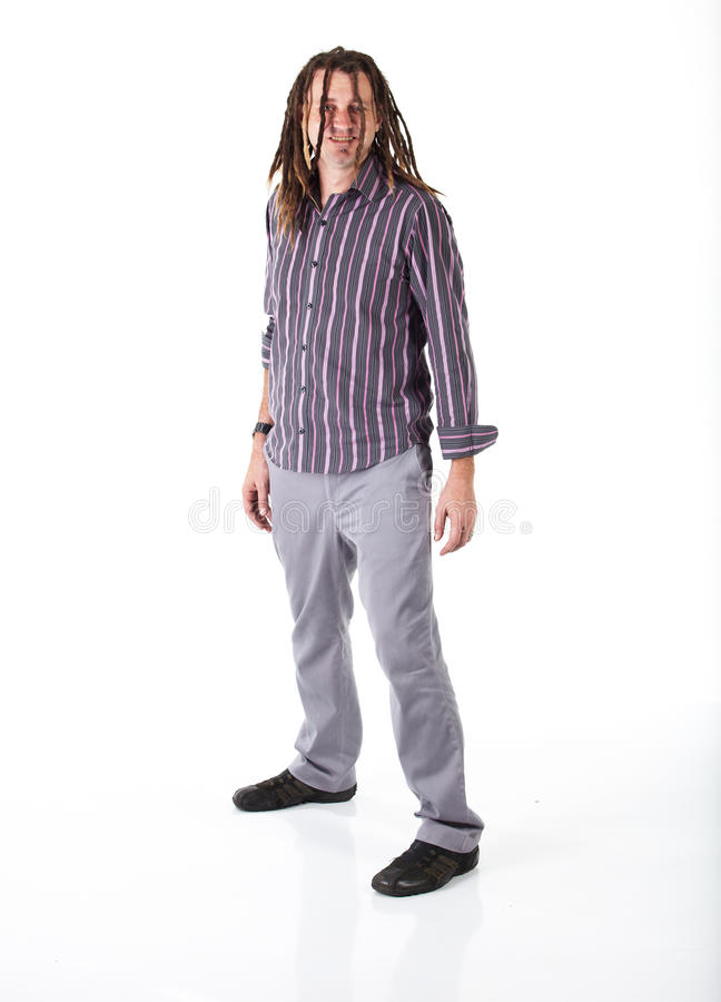 Homem com Dreadlocks fotografia de stock royalty free