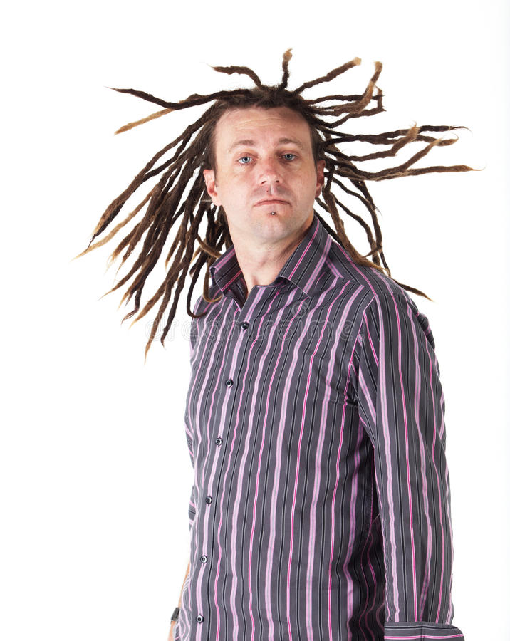 Homem com Dreadlocks imagens de stock royalty free