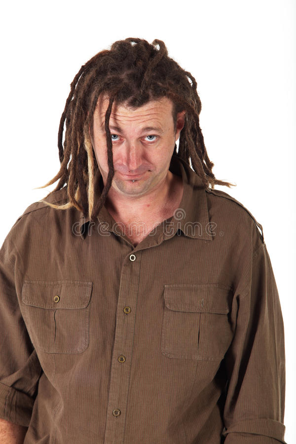 Homem com Dreadlocks imagem de stock